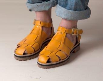 Yellow Woven Sandal