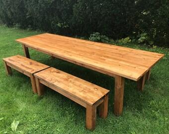 Large Farmhouse Table, Rustic Farm Table, Long Farm Table, Rustic Dining Room Table, Kitchen Table, Office Table, Rectangle Farm Table
