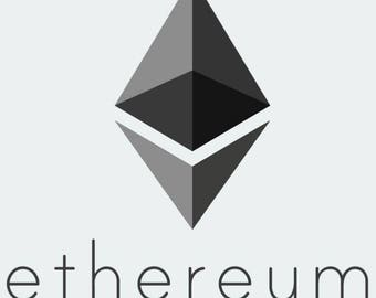 "Pack OF 10  3""- EthereumLogo Stickers -Free Shipping! 10 PACK DEAL"