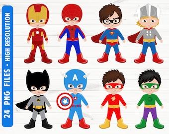 Superhero clipart Superhero digital Superhero prints Superhero logo Commercial use PNG