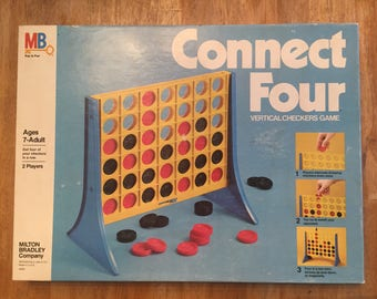 1979 Connect Four -- the vertical checkers game by Milton Bradley No 4430
