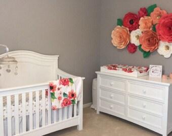 Large Paper Flowers/Nursery Decor ****Color Customizable ****