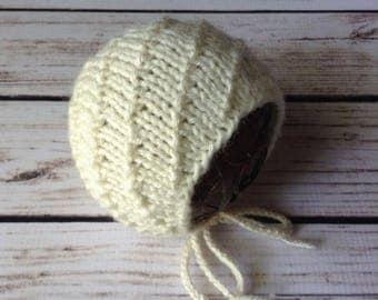 Newborn Bonnet Prop Pattern, Knit Bonnet Pattern, Knit Pattern, Diagonal Knit, Sitter Bonnet Pattern, Prop Pattern, Baby Bonnet Pattern