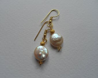 Pearl and Citrine Earrings