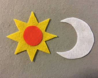 Felt Board Sun and Moon