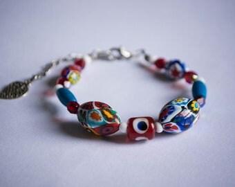 African beaded bracelet, Unusual jewellery, Bespoke gift