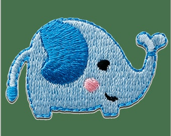 Patch/bow-elephant animal-blue-3.3 x 2.1 cm-by catch-the-Patch ® patch appliqué applications for ironing application patches patch