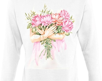 Sweatshirt with the author's watercolor print