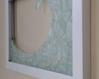 Framed Sea Glass Wave