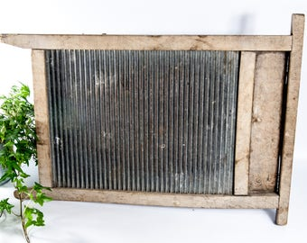 Rustic laundry room decor, vintage washboard, distressed washboard, laundry scrub board, old fashioned washboard, clothes washing board
