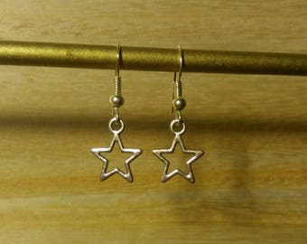 Silver Star earrings.