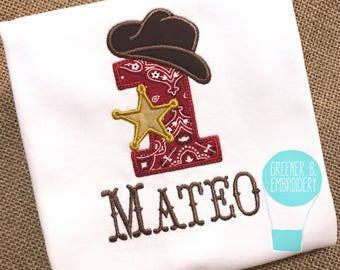 Cowboy Birthday Shirt / Western Birthday Shirt / Cowgirl Birthday Shirt / First Birthday Shirt / 1st Birthday / Birthday Outfit / Bodysuit