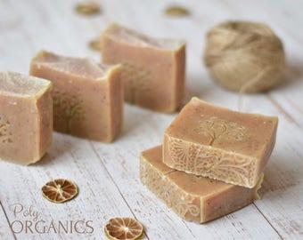 Organic Hemp and Lemongrass Soap (All-natural soap, Vegan soap, made in Canada)
