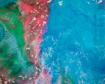 "Enlighten (Original Painting) by artist Renee Mendler 8"" x 8"""