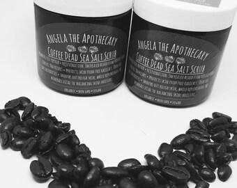 Organic Coffee Scrub, Coffee Sugar Scrub, Vegan, Body Polish, Dead Sea Salts, Vegan Body Scrub, Natural Cellulite Body Scrub, Coffee Scrub