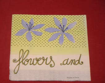 "napkin theme ""flowers and poetry"" flowers"""