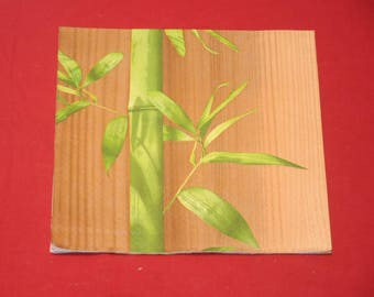 """paper flowers """"bamboo"""" theme towel"""