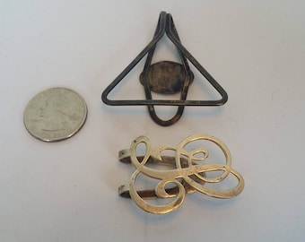 Two Sterling Silver Clips