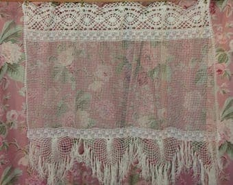 Curtain NET and lace vintage fringed macrame, ref and