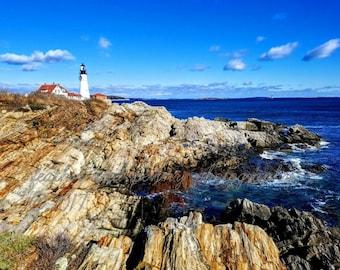 Maine Photography, Lighthouse photography, Portland, New England Photo, Coast Line Photos, Portland Head Light, Lighthouses