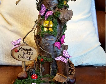Solid Wood Fairy House Lamp