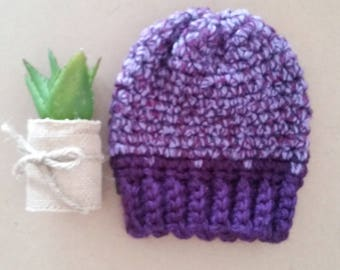 O-3 months crochet hat/beanie/tuque