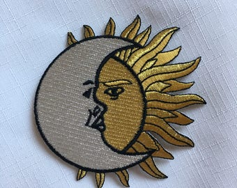 Sun and Moon Embroidered Patch