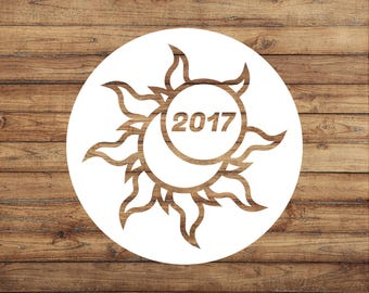 Eclipse Decal | Solar Eclipse Sticker | Eclipse Souvenir | Moon Sticker | 2017 Solar Eclipse | Total Eclipse | Astronomy | Path of Totality