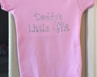 Hot pink daddy's little girl onesie