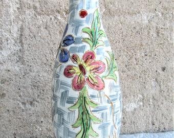 Vintage Italian Vase, Italian ceramics, mid century ceramics, Italian art vases, floral vases