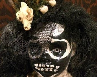 Painted skeleton doll
