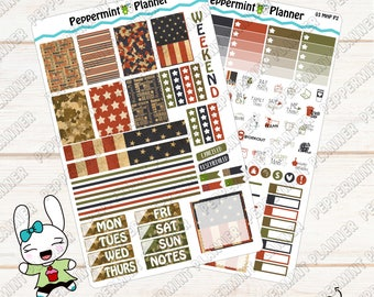 Military Weekly Planner Kit --- Planner Stickers --- For Use with the Mini Happy Planner --- MHP03
