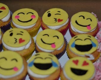 cupcake emoji for iphone emoji cupcake toppers wedding birthday decoration 6434