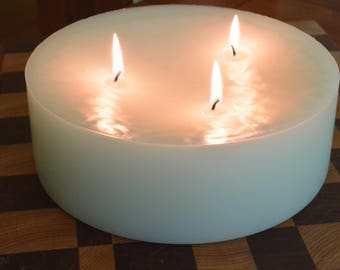 Custom hand poured 8 inch candle with multi wicks
