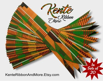 "SET OF 20 Kente Ribbon BOOKMARKS - 1-3/8"" x 8-1/2"" - Fabric is printed starched cotton - Message your questions before you order."