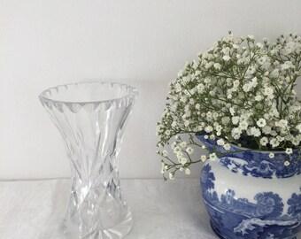 Vintage cut glass vase.