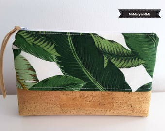 "Make-up bag ""Banana leaf"""