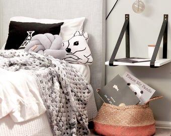 Chunky marble crochet blanket