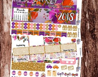 HAPPY PLANNER, February Monthly Kit, Sticker Kit, MAMBI, February Stickers, Planner Stickers