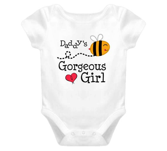 Daddy's Goegeous Girl - Cute Baby Girl's Onesie -  Girl Clothes - Infant Clothing - Baby Shower Gift -