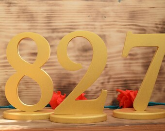 Set 1-45 Wood Table Number