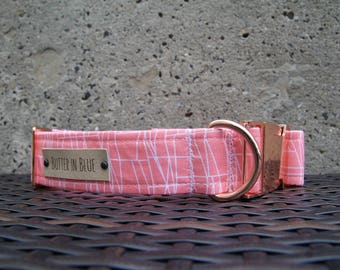 Pink Cityscapes Dog Collars
