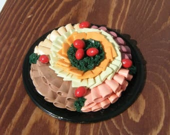 1:6 Scale Food - Deli Party Tray Meat & Cheese - for Barbie Momoko, Blythe, Pullip, Fashion Royalty and other dolls - OOAK