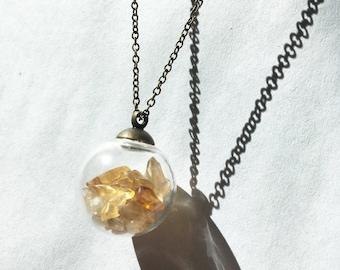 Crystal Filled Glass Globe