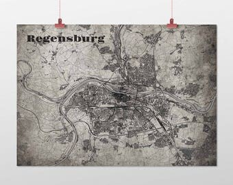 Regensburg - A4 / A3 - print - OldSchool