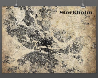 Stockholm din a4/DIN A3-Print-Vintagestyle