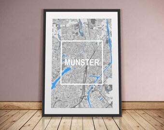 Münster-framed City-digital printing