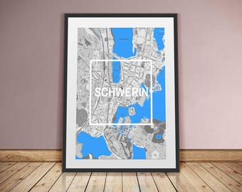 Schwerin-framed city-digital printing