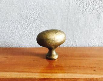 Authentic Vintage knob, Brass Egg knob