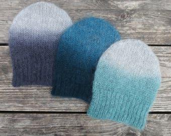 Digo Dip Dye Mohair Hat (in 3 colours)